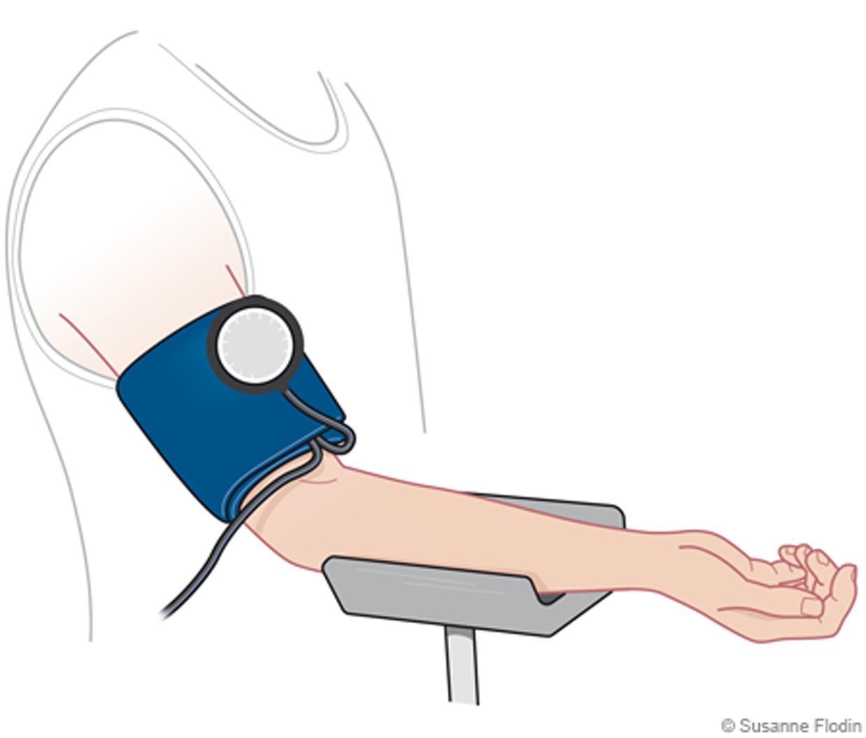 vilken arm ska man ta blodtrycket på